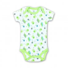 Baby Boy Print Green Turtles Short Sleeve Cotton Bodysuit