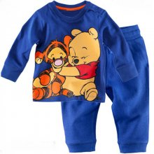 Toddler Boy 2 Pieces Pajamas Sleepwear Winnie Long Sleeve Shirt & Legging Sets