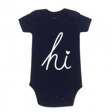 Baby Boy Print Letters Hi Short Sleeve Cotton Bodysuit