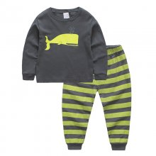Toddler Boy 2 Pieces Pajamas Sleepwear Whale Long Sleeve Shirt & Legging Sets