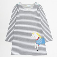 Toddler Girl Stripes Long Sleeves Casual Dresses