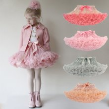 Toddler Girl Tutu Skirt Princess Fluffy Soft Chiffon Ballet Birthday Party Pettiskirt