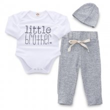 Baby Boy Print Slogans Long Sleeves Bodysuit and Pants Two Pieces Outfits with Hat