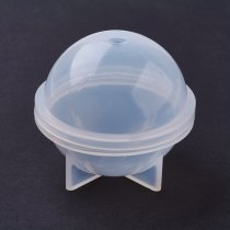Silicone Moulds, Resin Casting Molds, Clear, 24.5x23mm; Inner Diameter: 20mm