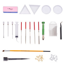 Resin Jewelry Making Tools Sets, Mixed Color, 5.9x0.9cm