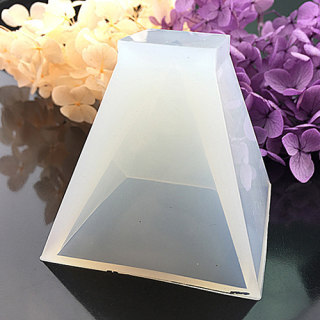 DIY Silicone Molds, For Resin & Dried Flower Jewelry Making, Trapezoid, White, 25x23.5x25mm