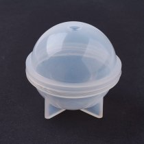 Silicone Moulds, Resin Casting Molds, Clear, 59x52mm; Inner Diameter: 50mm