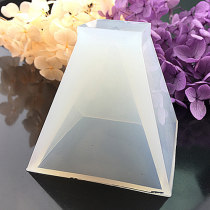 DIY Silicone Molds, For Resin & Dried Flower Jewelry Making, Trapezoid, White, 57x56x57mm