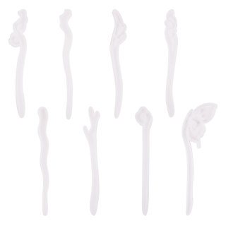8pcs Clear Hairpin Hair Stick Silicone Molds for Resin Jewelry Resin Hair Pin Making DIY Craft