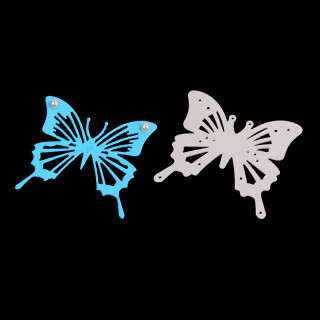 Butterfly Frame Carbon Steel Cutting Dies Stencils, for DIY Scrapbooking/Photo Album, Decorative Embossing DIY Paper Card, Matte Platinum, 5.7x6.4x0.08cm