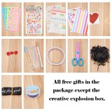 Creative Explosion Box, Love Memory Multi-layer Surprise, DIY Photo Album as Birthday Anniversary Gifts, Mixed Color, Explosion Box: 1~38.5x0.5~38.5cm and 21.4x11.3x4.6cm; 2sets