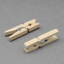 Wooden Craft Pegs Clips, Wheat, 30x4mm; 100pcs/bag