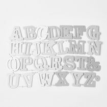 Frame Metal Cutting Dies Stencils, for DIY Scrapbooking/Photo Album, Decorative Embossing DIY Paper Card, Including Letter A~Z, Matte Platinum, 3~3.3x1.6~3.9cm; 26pcs/set