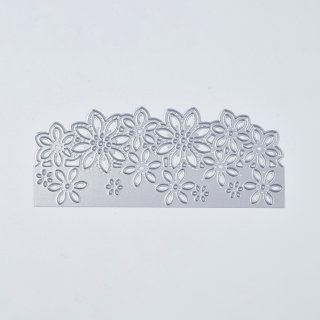 Carbon Steel Cutting Dies Stencils, for DIY Scrapbooking/Photo Album, Decorative Embossing DIY Paper Card, Flower, Matte Platinum