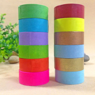 DIY Scrapbook Decorative Adhesive Tapes, Mixed Color, 15mm; 5m/roll