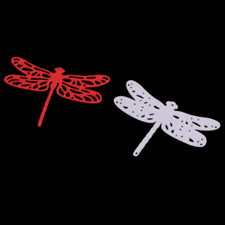 Dragonfly Frame Carbon Steel Cutting Dies Stencils, for DIY Scrapbooking/Photo Album, Decorative Embossing DIY Paper Card, Matte Platinum, 5x7.1x0.08cm