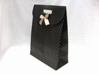 Kraft Paper Carrier/Gift Bags with bowknot, about 24cm wide, 32cm long