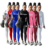 Sprot Fashion Outfits High Neck T-Shirt Pencil Pants H1058
