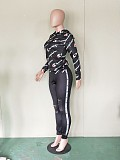 Hot Sale Suits Hooded T-Shirt Hollow Out Skinny Pants BN9132
