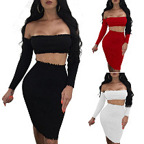 Women Club Wear Set Chest Wrapped + Wrap Dress SY8177