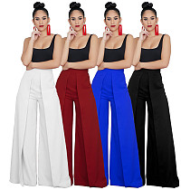 Solid High Waist Wide Leg Pants ZS0155