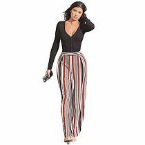 Wholesale Casual Stripe Wide Leg Pants DN8041