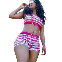 Regatas de impressão digital regatas Shorts elásticos duas peças Outfits ORY5119
