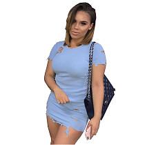 Prix pas cher Pure Color Bodycon Mini Dress OMY5028