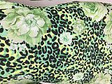 Green Cheap Floral Print Oversize Leopard Printing Bandage Dress LMM8087