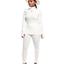 As mulheres confortáveis brancas da cor lisa do inverno do outono de Bodycon ajustam CM632