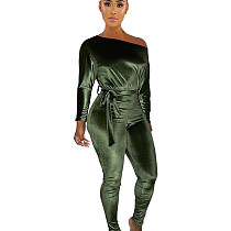 الأخضر سعر معقول BODYCON 3 ألوان الشتاء السيدات بذلة طويلة LY5803