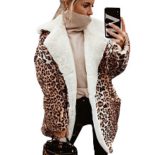 Leopard Print Double Layer Teddy Coat SN3739