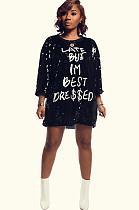Черная блестящая футболка с принтом буквы X9228