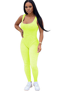 Green Square Neck Strapped Bodycon Jumpsuit TRS1007
