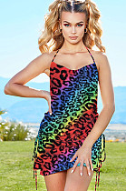 Colorful Shinning Open Back Wired Cami Dress CYF3384