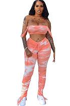 Pink Tank Crop Top & Self Tied Pants Set HM5296