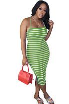 Zebra verde magro Cami vestido OMY8036