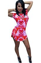 Мини-платье с высоким вырезом и завязкой по краям YYZ826
