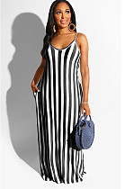 Black Zebra Two Tones Strapless Shift Tank Dress SMR9615