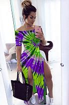 Длинное платье с длинными рукавами и длинными рукавами с длинными рукавами CYY8549
