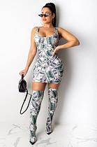 Dolllar Graphic Random Print Tank Mini Dress YY5172