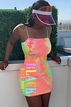 Pink Night Out Tie Dye Slip Dress  LMM8150