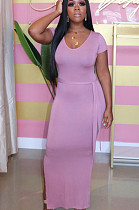 Легкое повседневное платье из полиэстера с короткими рукавами и длинными рукавами с длинными рукавами KZ789