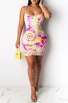 Розовый сексуальный полиэстер без рукавов спагетти ремень с открытой спиной платье скольжения SDD9268