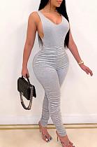 Offwhite Длинные брюки без рукавов из полиэстера с рюшами и майкой OMY8063