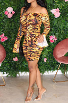 Yellow Sexy Polyester Long Sleeve Ruffle Bodycon Jumpsuit BBN049