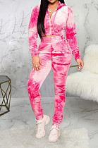 Casual Polyester Long Sleeve All Over Print Hoodie Long Pants Sets SMR9650
