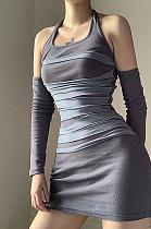 Sexy Casual Long Sleeve V Neck Dress