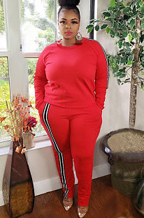 Casual Polyester Long Sleeve Round Neck T-Shirt Sets CCY1293