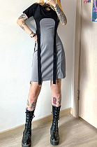 Casual Sexy Cap Sleeve knotted Strap shift dress